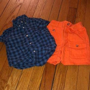 Ralph Lauren 2 piece shorts set